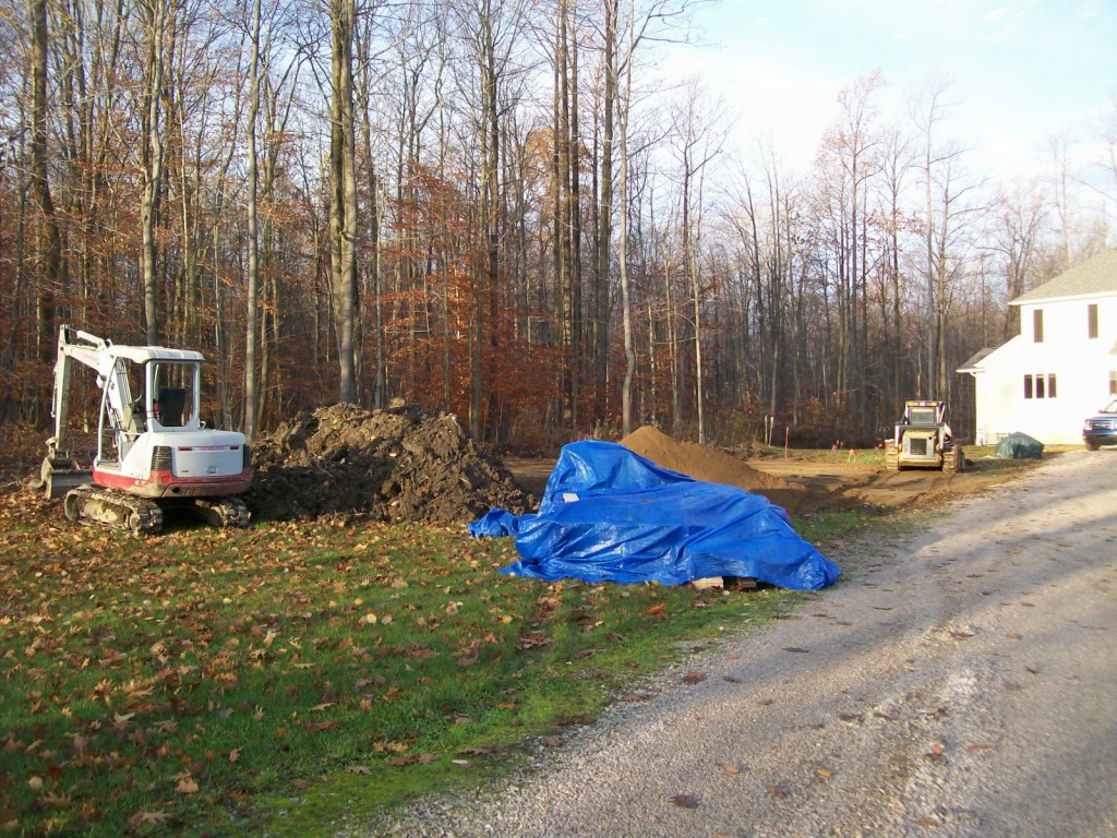 Site Prep For Custom Garage Construction Erie Pa Roofing