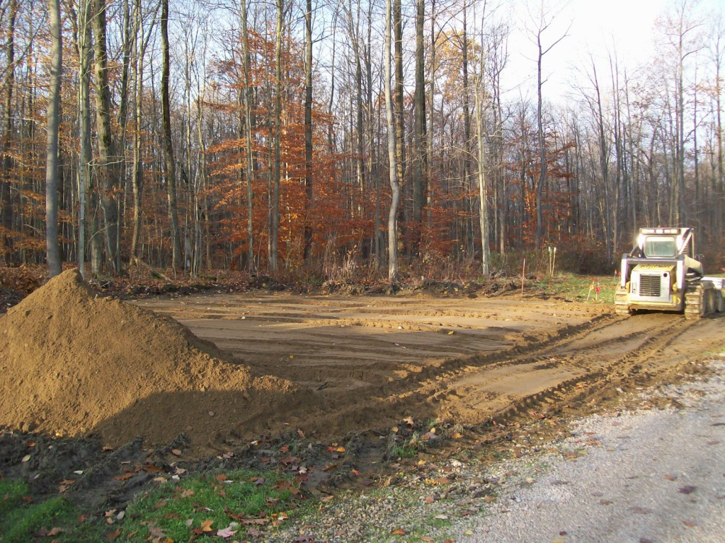 Site Preparation For Custom Garage In Conneaut Ohio