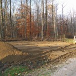 Site Preparation for custom garage in Conneaut, Ohio