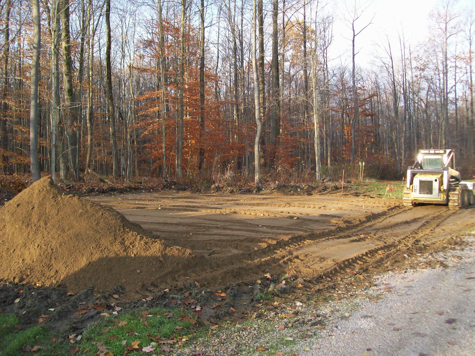 Site Preparation For Custom Garage In Conneaut Ohio