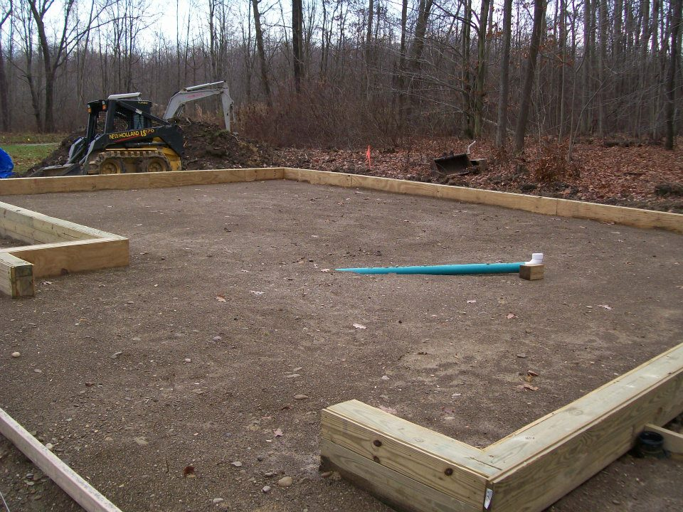 ... Prep | Drain Installation | Custom Pole Barn & Garage Construction