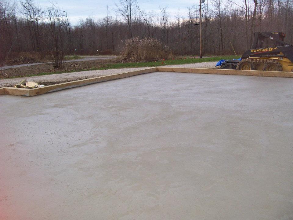 Concrete Floor Custom Pole Building Erie Pa Roofing