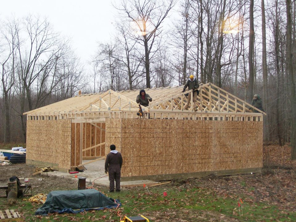 Custom Garage Construction Project