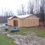 Custom Garage | Ready for Roofing Installation