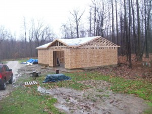 Custom Garage Ready For Roofing Installation Erie Pa