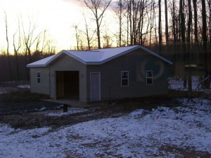 Custom Built Garage In Ashtabula County Erie Pa Roofing